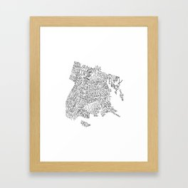 Bronx - Hand Lettered Map Framed Art Print