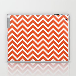 red, white zig zag pattern design Laptop & iPad Skin
