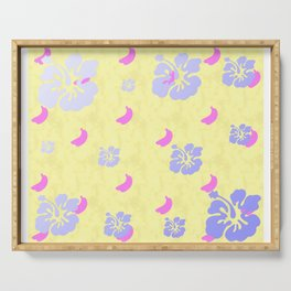 Tropical Pattern Yellow Serving Tray
