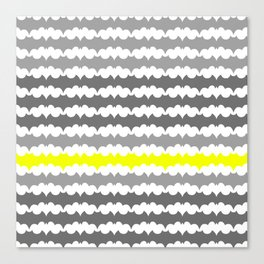 Gray and Yellow Abstract Pillow Canvas Print