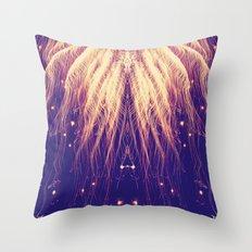 Fire Hair Throw Pillow