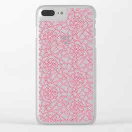 Candy cane flower pattern 1 Clear iPhone Case