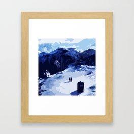 Tardis Art At The Snow Mountain Framed Art Print