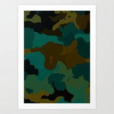 Earth Camo Art Print