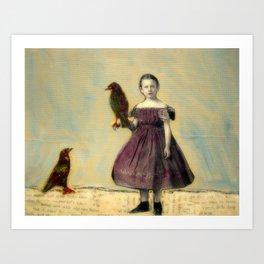 Little Crow Art Print