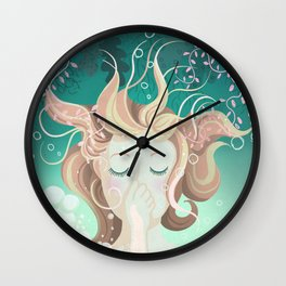 Watery day dreams Wall Clock
