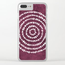 Yoga Stones in Wine Clear iPhone Case