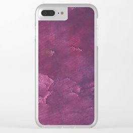 Dark purple vague watercolor Clear iPhone Case