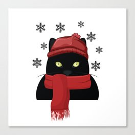 winter snow xmas cat furniture Design by diegoramonart Canvas Print