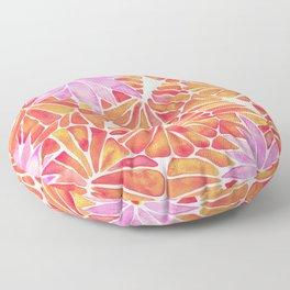 Water Lilies – Melon Palette Floor Pillow