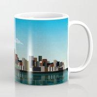 seattle Mugs featuring Seattle by WyattDesign