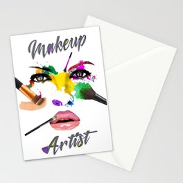 Makeup Artist, Make up Fashion Master Stationery Cards