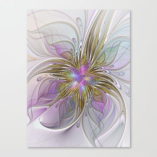 Flourish, Abstract Fractal Art Flower Canvas Print