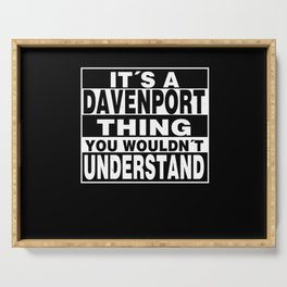 DAVENPORT Surname Personalized Gift Serving Tray