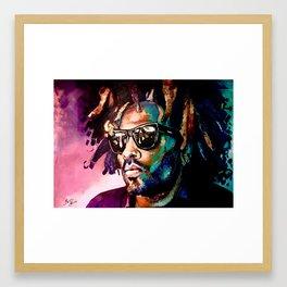 Lenny Kravitz abstract portrait Framed Art Print