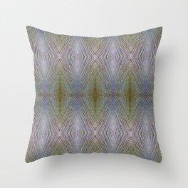 Wooden Rhomboids Throw Pillow