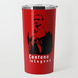 Cantona Is Legend In United Travel Mug