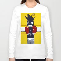 basquiat Long Sleeve T-shirts featuring Boxer Basquiat by TheArtGoon