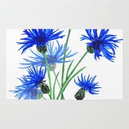 blue cornflower Rug