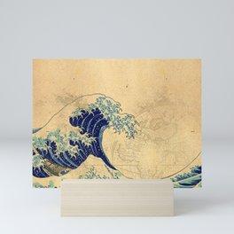 Hokusai parchment Mini Art Print