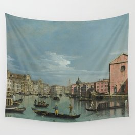 Venice: The Grand Canal facing Santa Croce by Bernardo Bellotto Wall Tapestry