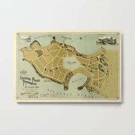Map Of Gloucester 1888 Metal Print