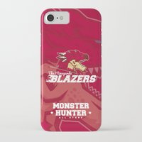 monster hunter iPhone & iPod Cases featuring Monster Hunter All Stars - The Minegarde Blazers by Bleached ink
