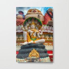 Lord Vishnu Thailand Temple Metal Print
