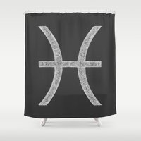 pisces Shower Curtains featuring Pisces by David Zydd