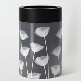 White Poppies Can Cooler