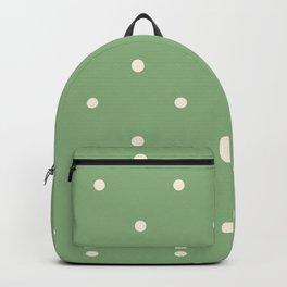 Sage green polka dot olive pattern print Backpack