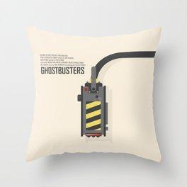 Ghostbusters poster, BIll Murray, Peter Venkman, Harold Ramis, Ghost trap, Ivan Reitman, alternative film print Throw Pillow
