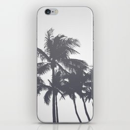 Tropical Palms Gray iPhone Skin