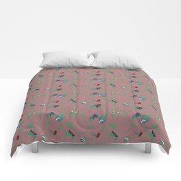 Pink Bug Swirl Comforters