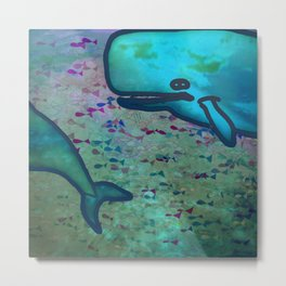Dear Whale Metal Print