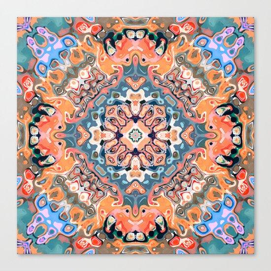 Textured Mandala Pattern Canvas Print