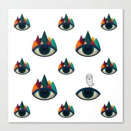 069 - I've seen it owl eyes pattern Canvas Print