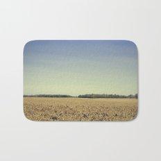 Lonely Field in Blue Bath Mat
