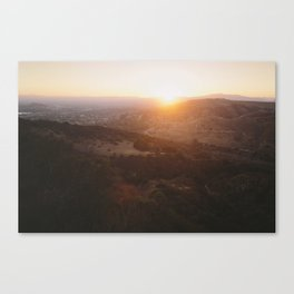 Angels National Forest, sunset no.13 Canvas Print