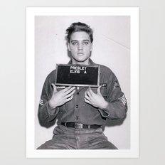 Elvis Presley Mugshot Art Print