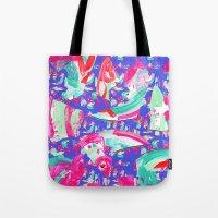 fancy Tote Bags featuring Fancy by Caroline Sansone