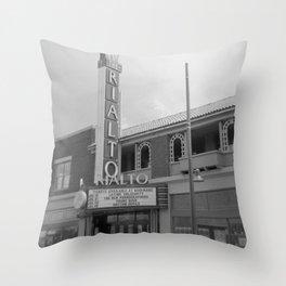 Vintage Neon Sign - The Rialto Theater - Tucson Arizona Throw Pillow