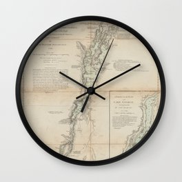 A survey of Lake Champlain Wall Clock
