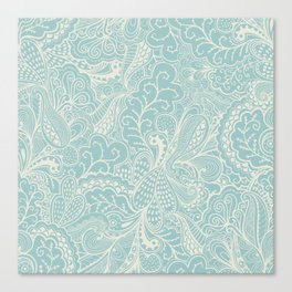 Tender doily pattern Canvas Print