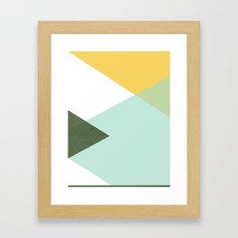 Geometrics - citrus & concrete Framed Art Print