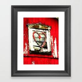 Barn Heart Framed Art Print