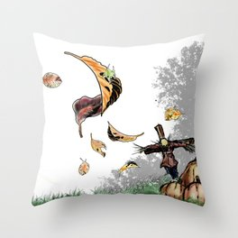 Halloween Scarecrow Throw Pillow