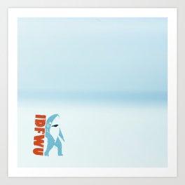 IDFWU Left Shark Art Print
