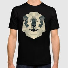 lion Black Mens Fitted Tee SMALL
