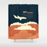 flight Shower Curtains featuring Flight by Risa Rodil